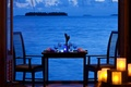 Picture the ocean, romance, view, the evening, candles, dinner