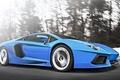 Picture Lamborghini, LP700-4, Aventador, Blue, Supercar, Supercar, Speed, Speed