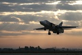 Picture Dry, RUSSIAN AIR FORCE, Landing, SU-24, Sunset, The plane