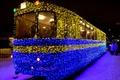Picture lights, garland, tram