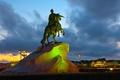 Picture night, Saint Petersburg, the bronze horseman