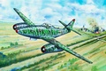 Picture war, art, painting, aviation, jet, ww2, Messerschmitt Me 262
