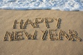 Picture Happy, Happy New Year, beach, beach, sea, sand, sea, sand, New Year