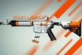 Picture skin, cs:go, asiimov, global offensive, counter strike, M4A4
