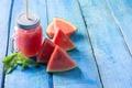 Picture mint, sweet, juice, dessert, mug, watermelon, delicious