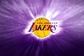 Picture NBA, Background, Basketball, Logo, Los Angeles, Los Angeles Lakers, Purple