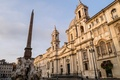 Picture Cathedral, fountain of the four rivers, obelisk, Italy, Piazza Navona, Rome