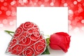 Picture sheet, heart, rose, red, Rose, heart, Valentine's Day, Valentines Day, Romance