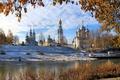 Picture Vologda, river, autumn, landscape, Church