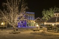 Picture snow, night, the city, lights, holiday, street, new year, lights, night city, garland, night, New ...