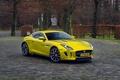 Picture coupe, jaguar, f-type, gold