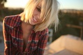 Picture look, girl, smile, mood, model, blonde, Alysha Nett
