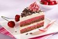 Picture cake, cream, food, cake, dessert, dessert, sweet, chocolate, cherries, cherry, cream, chocolate, cake, food