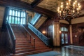 Picture house, hall, castle, steps, stairs