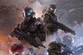 Picture weapons, ship, Microsoft, team, helmet, armor, Locke, The Master Chief, Locke, Chief, Halo 5: Guardians, ...