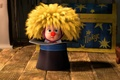 Picture yellow hair, Masha and the Bear, Clown, cylinder