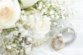 Picture flowers, fabric, flowers, engagement rings, cloth, wedding rings