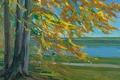 Picture tree, picture, Lake Starnberger, William Trubner, autumn, landscape