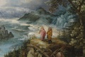 Picture picture, religion, mythology, Jan Brueghel the elder, Mountain Landscape with the Temptation of Christ