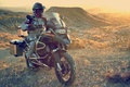 Picture sunset, BMW, Savannah, Africa, equipment, South Africa, cross, R1200GS