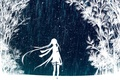 Picture hatsune miku, Vocaloid, art, trees, girl, night, Hatsune Miku, stars, the sky, vocaloid