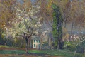 Picture picture, house, Henri Lebacq, spring, trees, Landscape with House, landscape