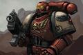 Picture Warhammer, armor, warhammer40k, Blood Raven, dawn of war, art