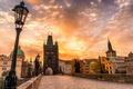 Picture Charles bridge, architecture, the city, Prague, Czech Republic, Prague, autumn, clouds, Czech Republic, bridge, Praha, ...