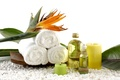 Picture leaves, flowers, oil, candle, towel, flowers, Spa, leaves, Spa, candle, towel, oil, Spa stones, Spa ...