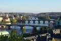 Picture the river, bridges, through, the city, Prague, beautiful, Praga, Czech Republic, view, Panoramny, Prague., Czech ...