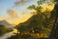 Picture mountains, river, picture, Yang Bot, Italian Landscape with Ferry