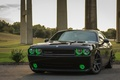 Picture lights, green, Dodge, Challenger