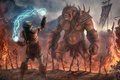 Picture orc, heads, art, dead, troll, body, magic, background, armor, fantasy