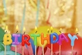 Picture balloons, birthday, candles, colorful, candles, letters, Happy Birthday