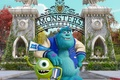 Picture Monsters University, Monsters, statues, gate, Academy of monsters, students, cartoon, Monsters University, campus, friends, Inc., ...