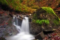Picture leaves, rocks, waterfall, Autumn, nature, autumn, leaves, fall, small waterfall