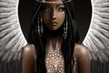 Picture look, hair, wings, art, angel, fiction, earrings