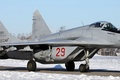 Picture The plane, The MiG-29, The Russian air force, Mikoyan, On the runway