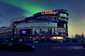 Picture road, machine, the city, lights, the evening, Minsk, Belarus, shopping center, the sky
