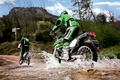 Picture road, forest, squirt, stream, Moto, stories, kawasaki
