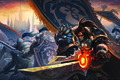 Picture Armor, Flag, Sword, Knights, King, Wowrld of warcraft, Varian Rin