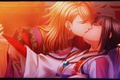 Picture kiss, earrings, hands, hairstyle, costume, art, closed eyes, visual novel, ike, shirahana no ori