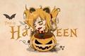Picture halloween, pumpkin, eyes, gold