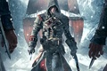 Picture weapons, hands, ship, killer, snow, hood, Shay Patrick Cormac, Assassin's Creed: Rogue, swords, sails, Ubisoft, ...