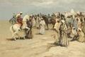 Picture people, picture, genre, Marseille Dif, Arab horsemen in Taroudant