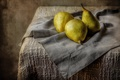 Picture still life, table, fruit, pear