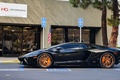 Picture blackбламборгини, aventador, lp700-4, aventador, orange, drives, lamborghini, profile, black