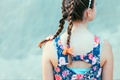 Picture back, girl, braids