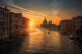 Picture the city, home, Venice, light, boat, channel, the sun