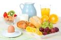 Picture egg, oranges, Breakfast, cheese, milk, strawberry, juice, grapes, Orange, pitcher, Strawberry, bun, milk, Breakfast, Cheese, ...
